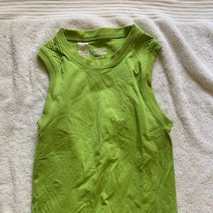 Mint green girls athletic top